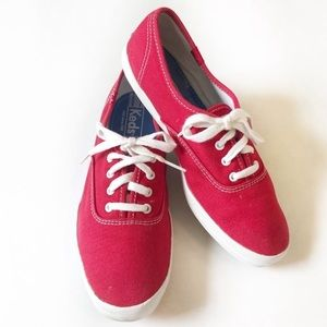 Keds Classics Red Canvas Sneakers